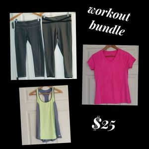 Workout Pants and Shirts Bundle